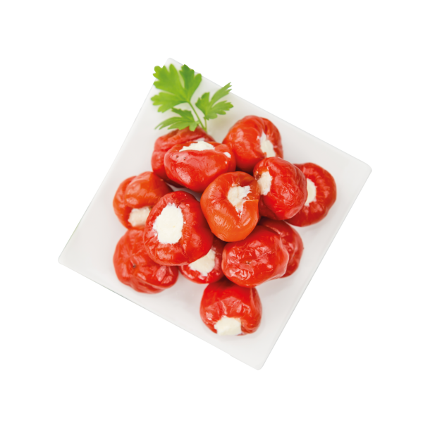Red Cherry Pepper Stuffed with Cheese
